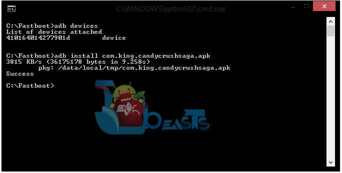 ADb Install APK file Galaxy Gear