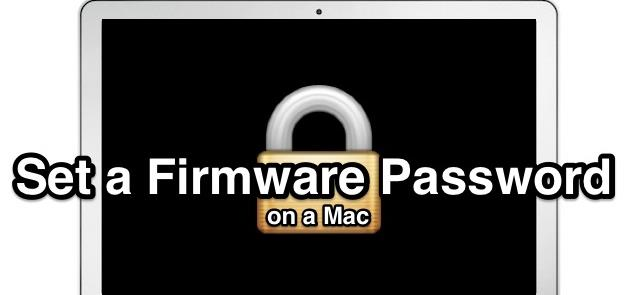 How To Set Firmware Password On Mac OS X Mavricks