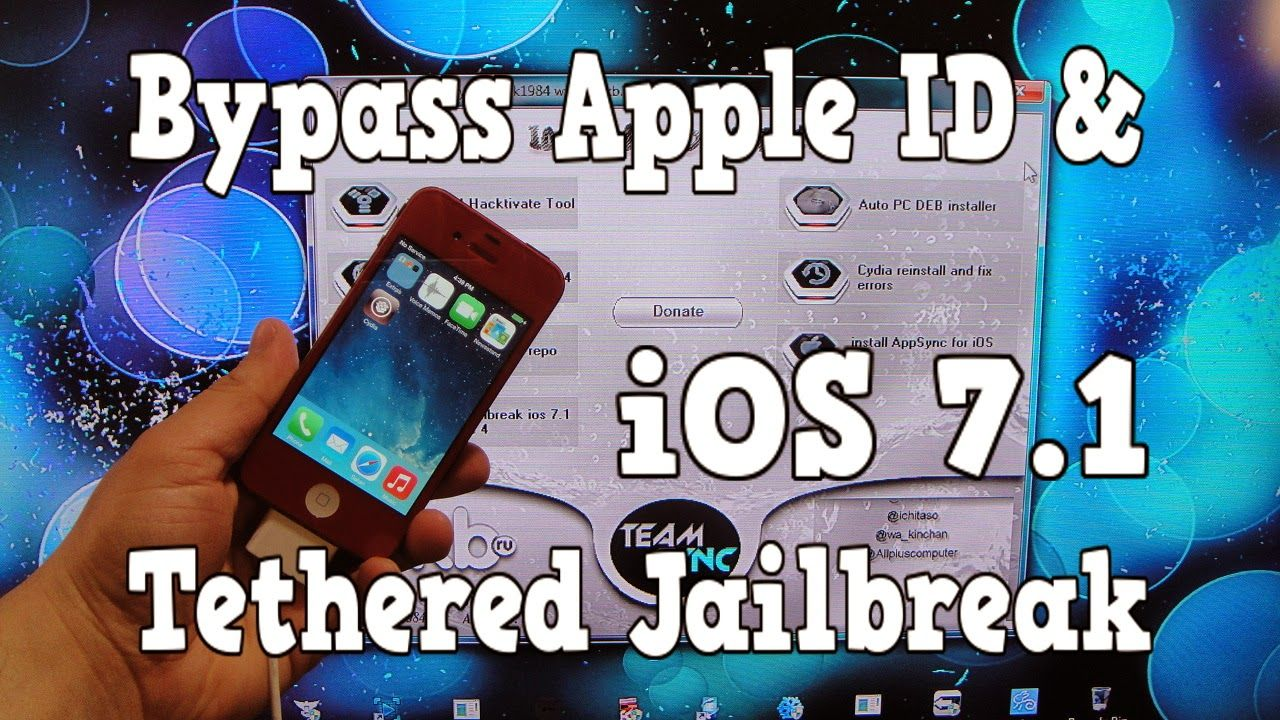 How To Bypass iOS 7.1 Apple ID