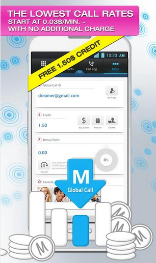 Global Call Android App