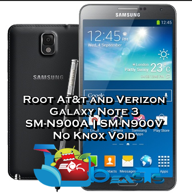 One-Tap Root For At&t and Verizon Galaxy Note 3 Without Tripping Knox [How To]