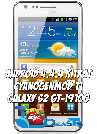 Android 4.4.4 Galaxy S2 I9100