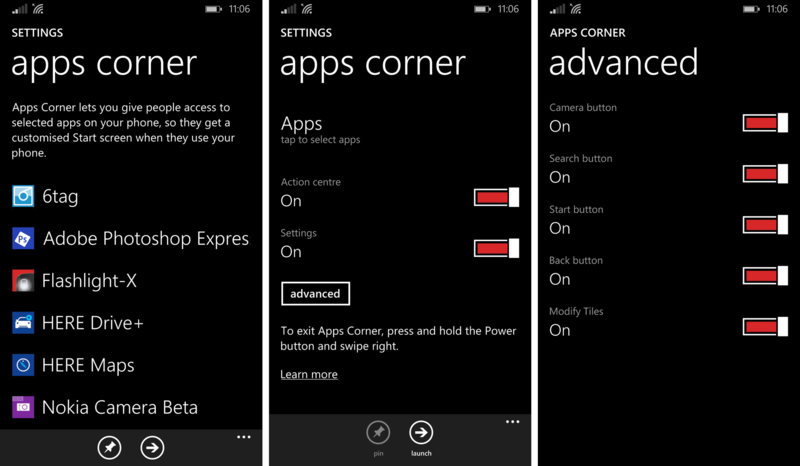 set up Apps Corner on Windows Phone 8.1 GDR1