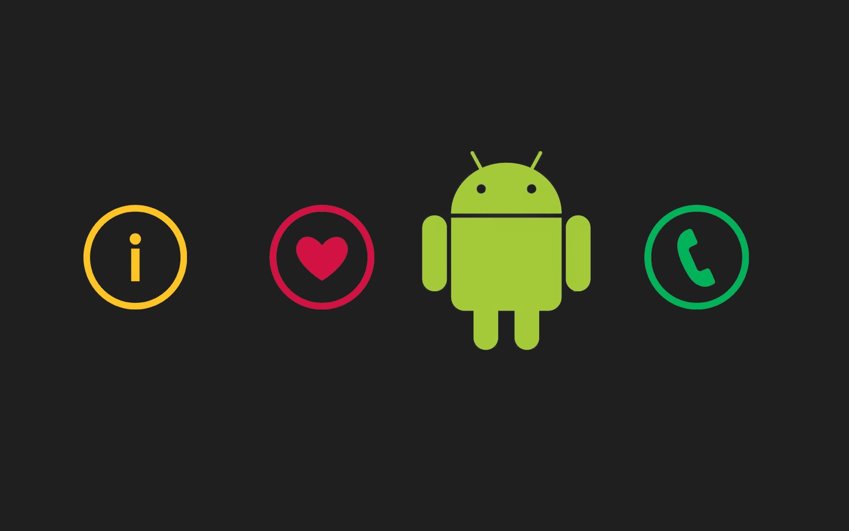I Love Android Wallpaper