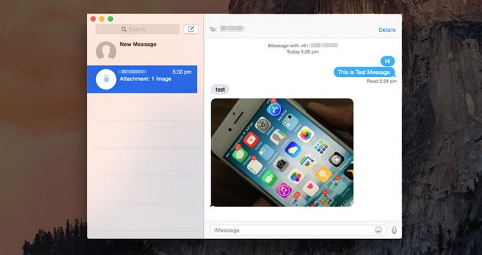 Mac OS X Yosemite Save Photos from Messages App