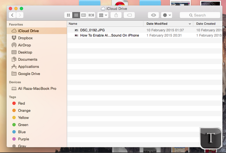 How to manually create folders iCloud Drive on your Mac and move files
