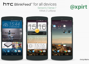 Install HTC Sesne on any Android device with HTC BlinkFeed