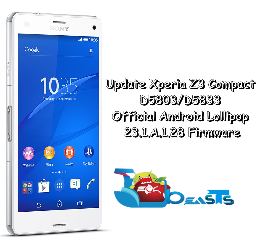 Update Xperia Z3 Compact D5803/D5833 To Official Android