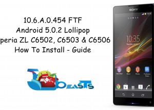 Update Sony Xperia ZL To Official Android Lollipop 10.6.A.0.454 Firmware