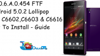 Update Sony Xperia Z To Official Android Lollipop 10.6.A.0.454 Firmware