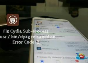 Fix Cydia iOS sub-process / usr / bin / dpkg returned an error code (2)