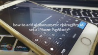 How to use alphanumeric characters to set a iPhone passcode