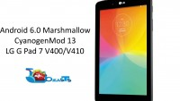 Install Android 6.0 Marshmallow on LG G Pad 7 via CM 13