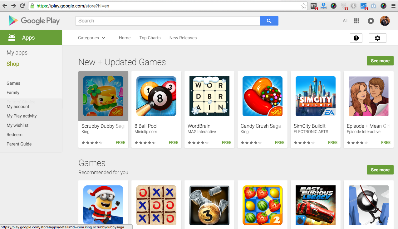how to delete devices from google play