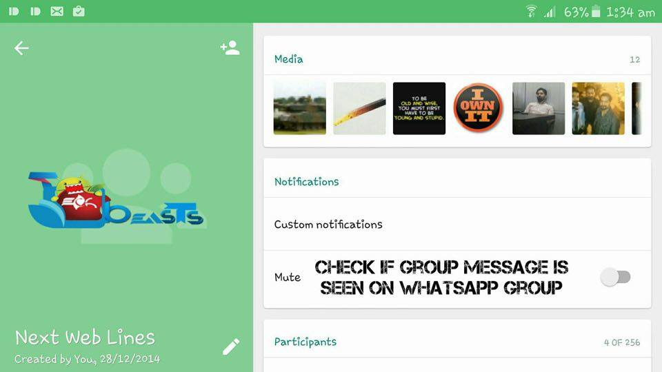 Check If Group Messages On WhatsApp