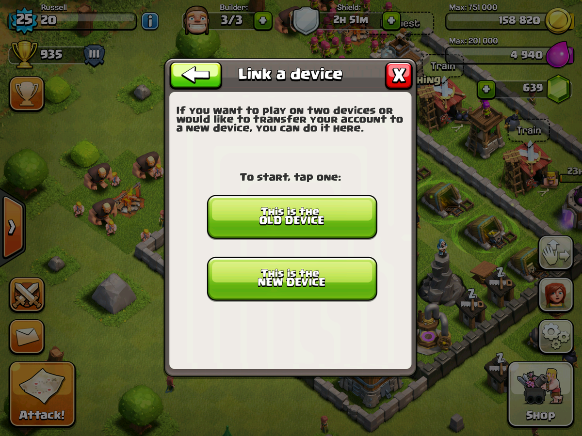 ransfer your Clash of Clans village from iOS to Android