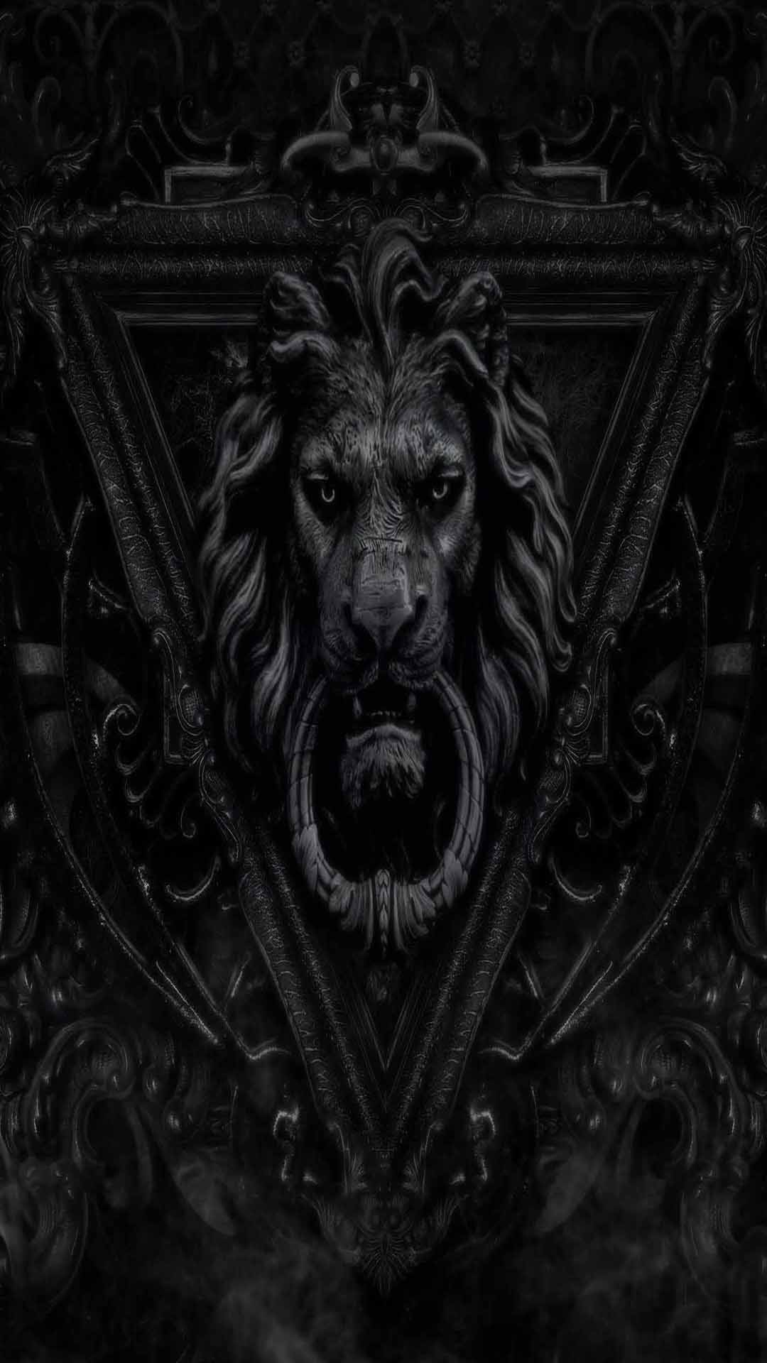 dark lion iphone 5s full hd wallpapers free download