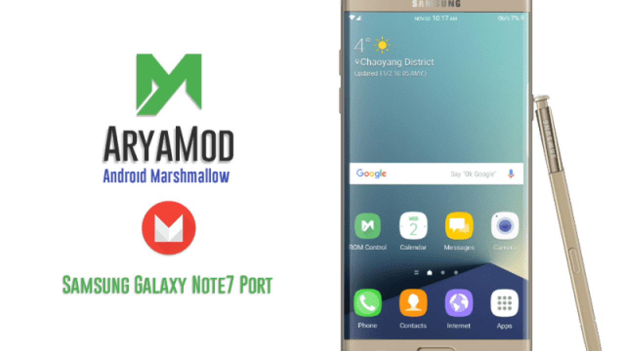 Install AryaMod Note 7 ROM on Galaxy Note 3 to get all