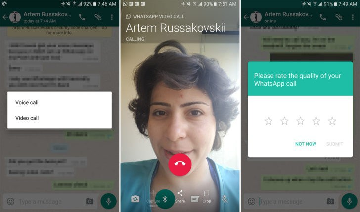 WhatsApp Video Call issues