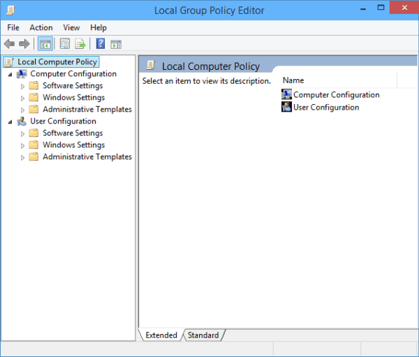 Access Local Group Policy Editor on Windows 10