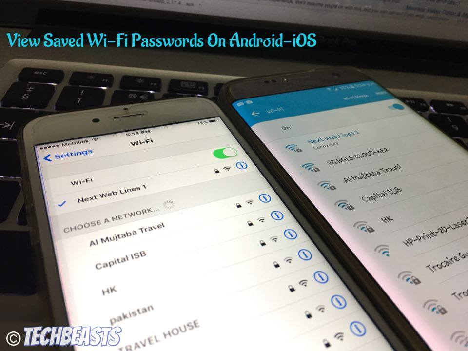 View Saved Wi-Fi Passwords On Android-iOS
