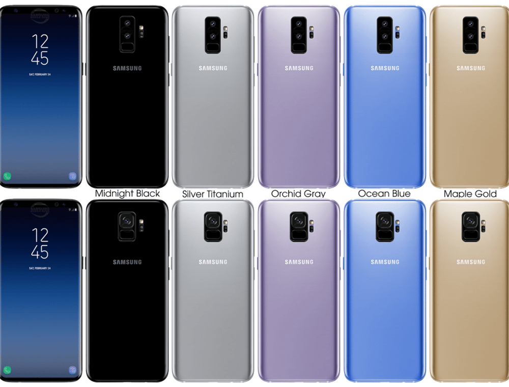 Renders of Galaxy S9 and Galaxy S9+ show what sort of device we might be looking at