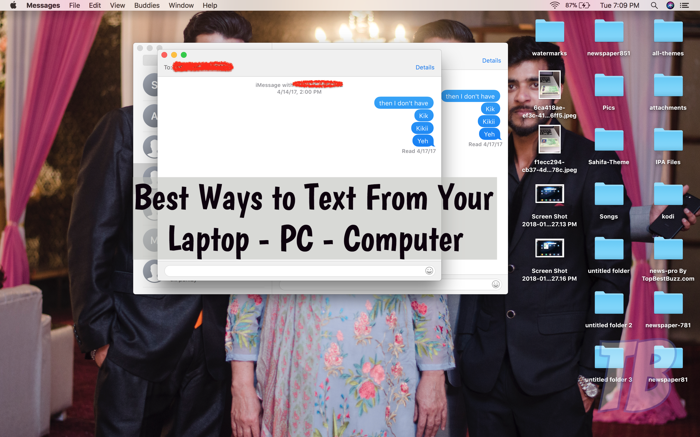 Text From Laptop