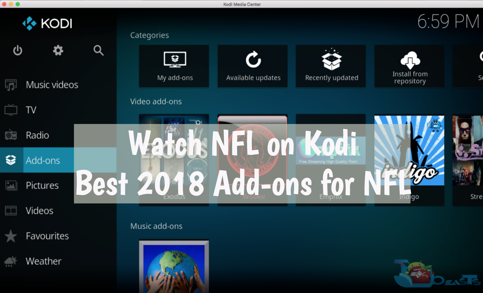 NFL on Kodi