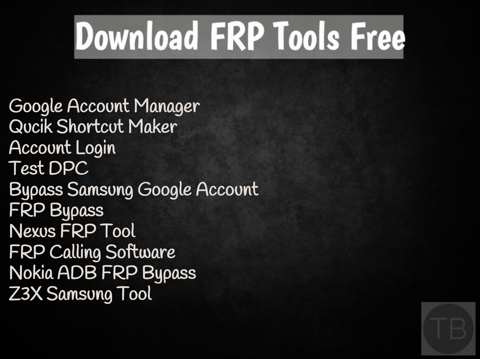 Download FRP Tools Free