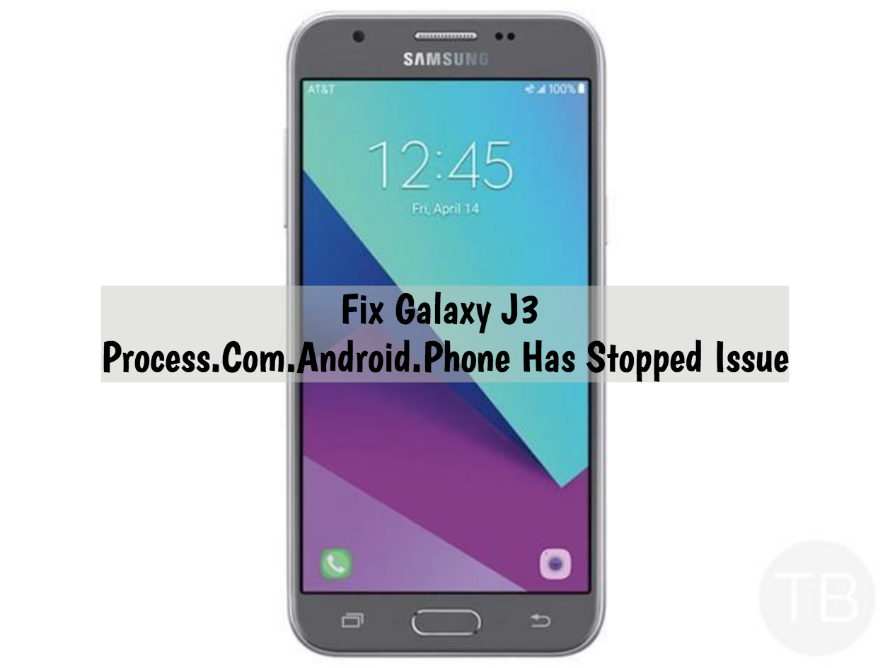 Galaxy J3 Process.Com.Android.Phone Has Stopped Issue