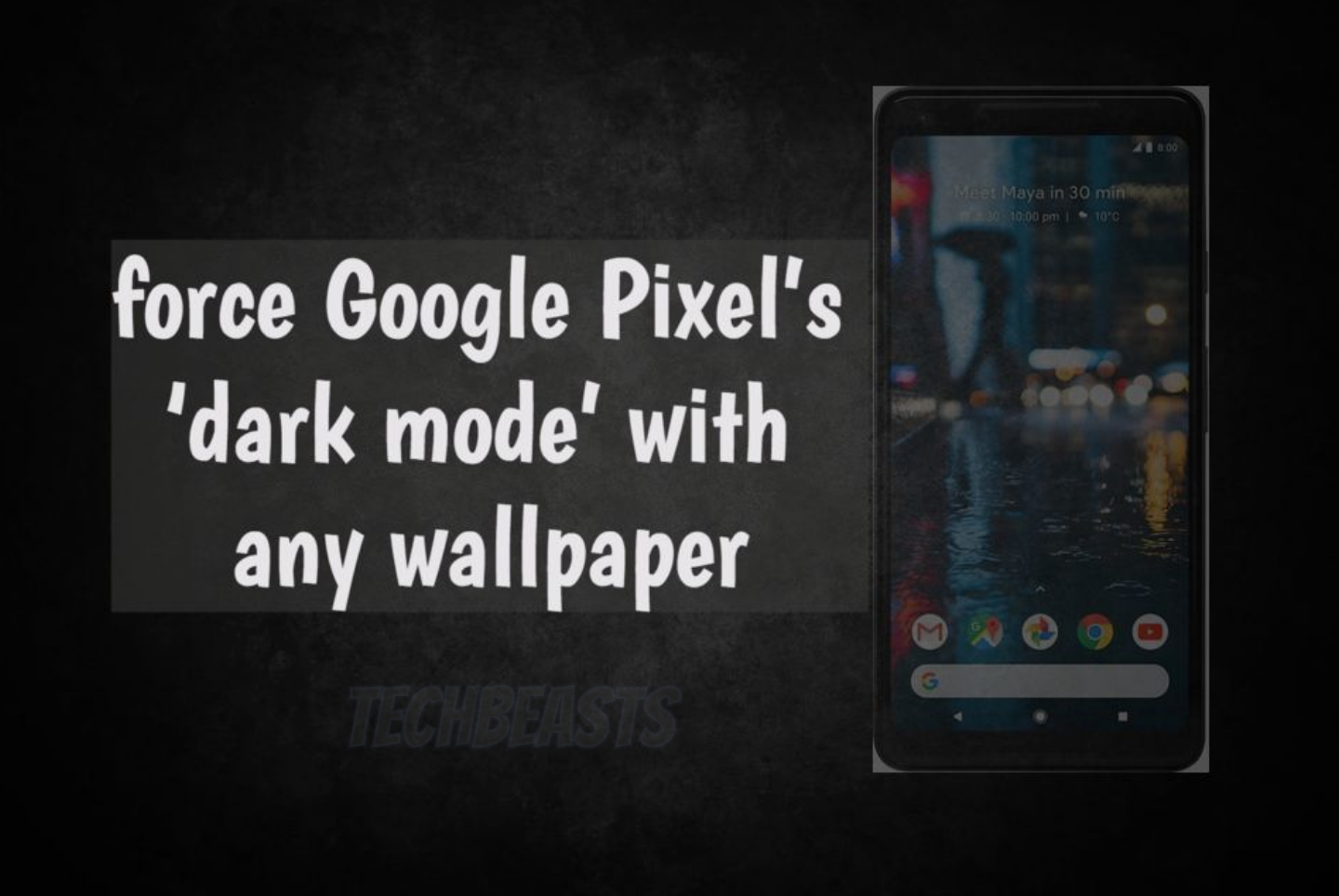 force Google Pixel's 'dark mode' with any wallpaper