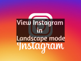 view Instagram in landscape mode