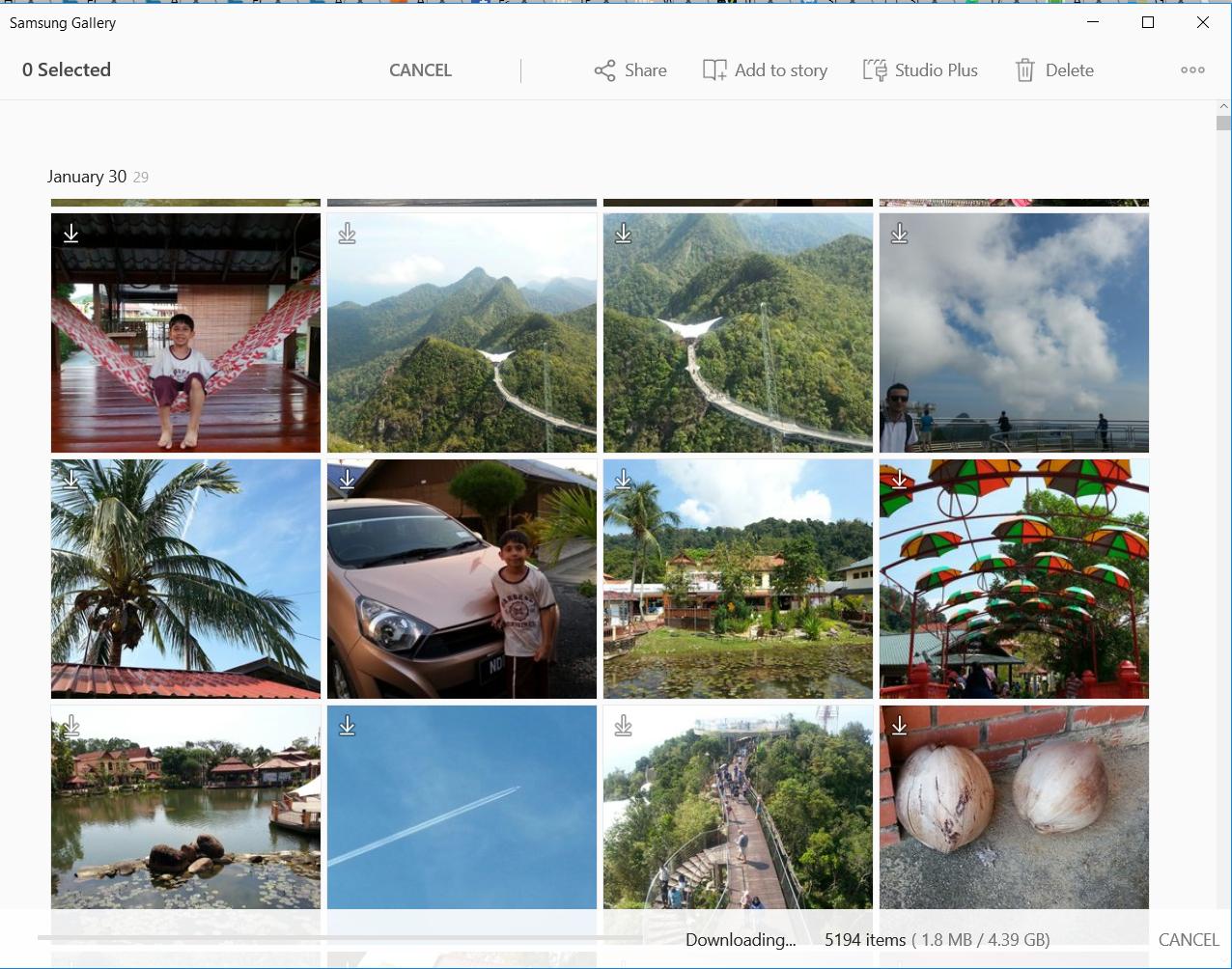 Samsung Cloud Photos synced with Windows 10