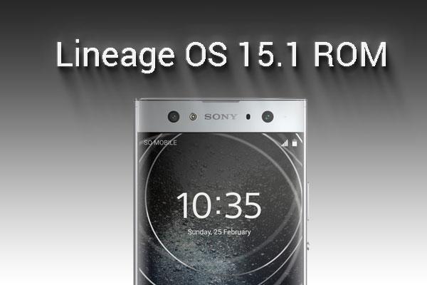 install lineage os 15.1 on Sony Xperia XA2