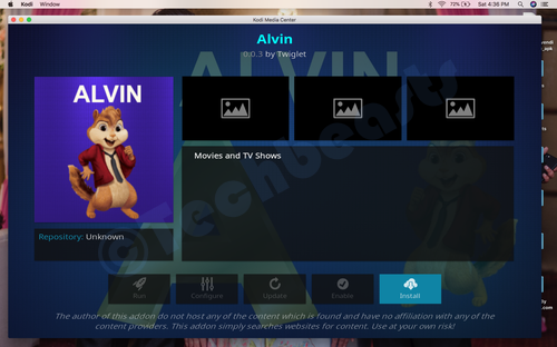 Install Alvin Kodi Add-on