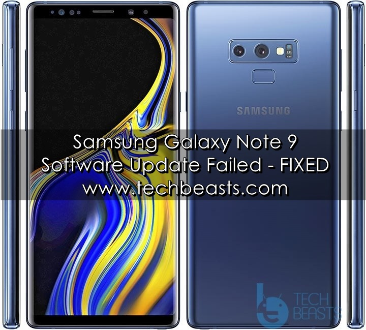 Note 9 Software Update Failed