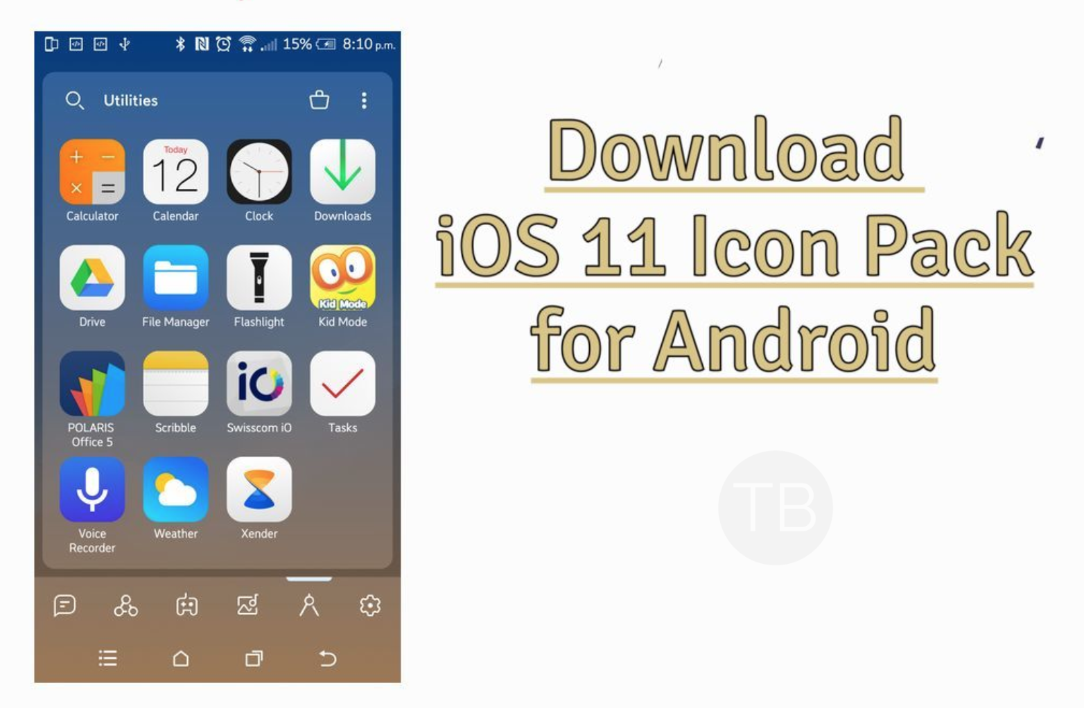 iOS 11 Icon Pack APK