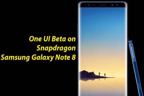 One UI Beta on Snapdragon Samsung Galaxy Note 8
