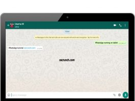 WhatsApp on WiFi Tablet