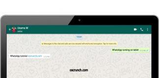 WhatsApp on WiFi Tablet