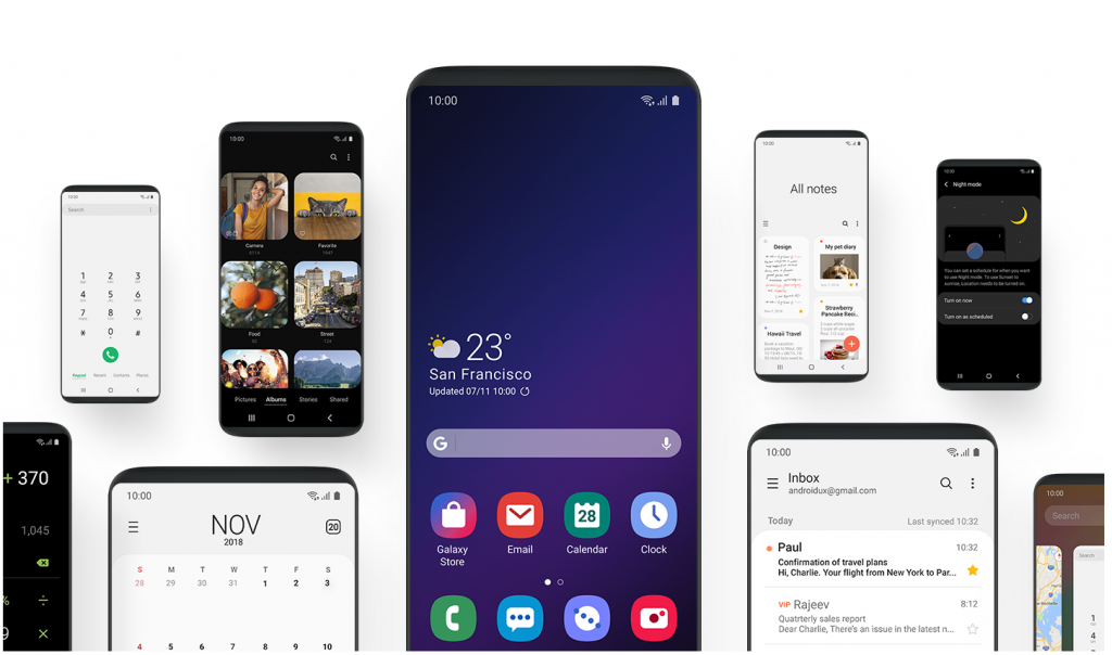 Samsung One UI for Note 8