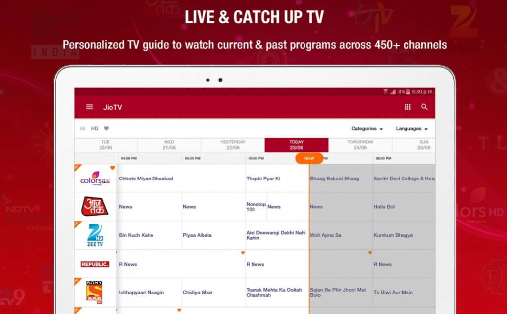 JioTV Live for PC
