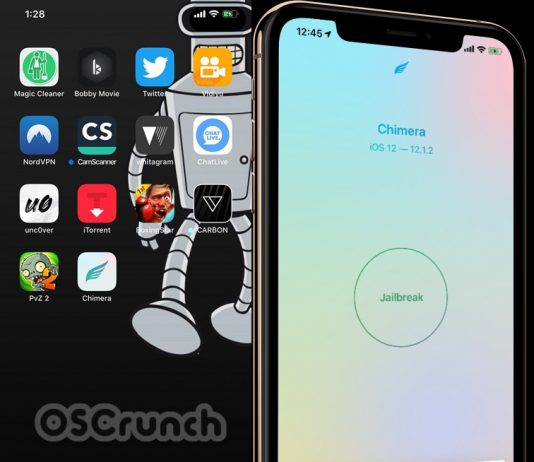 Jailbreak iOS 12.4 using Chimera