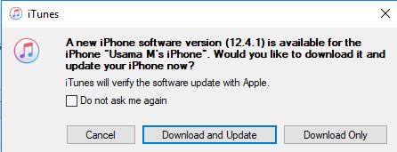 iOS 12.4.1 update.