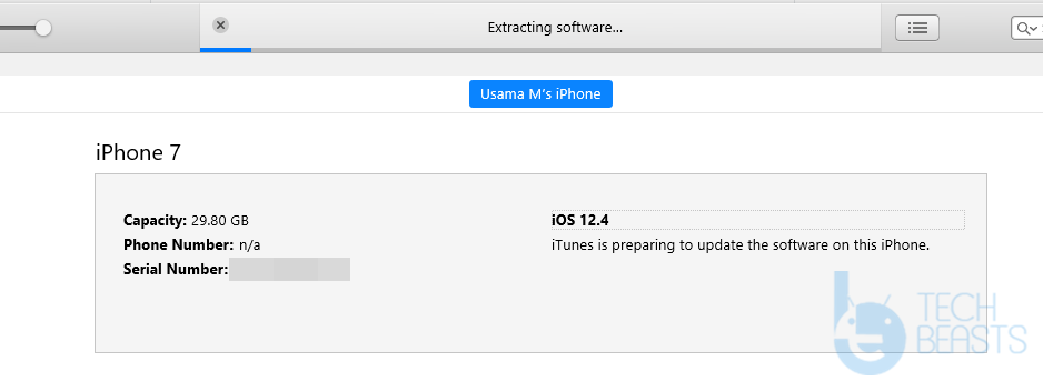 downgrading iPhone