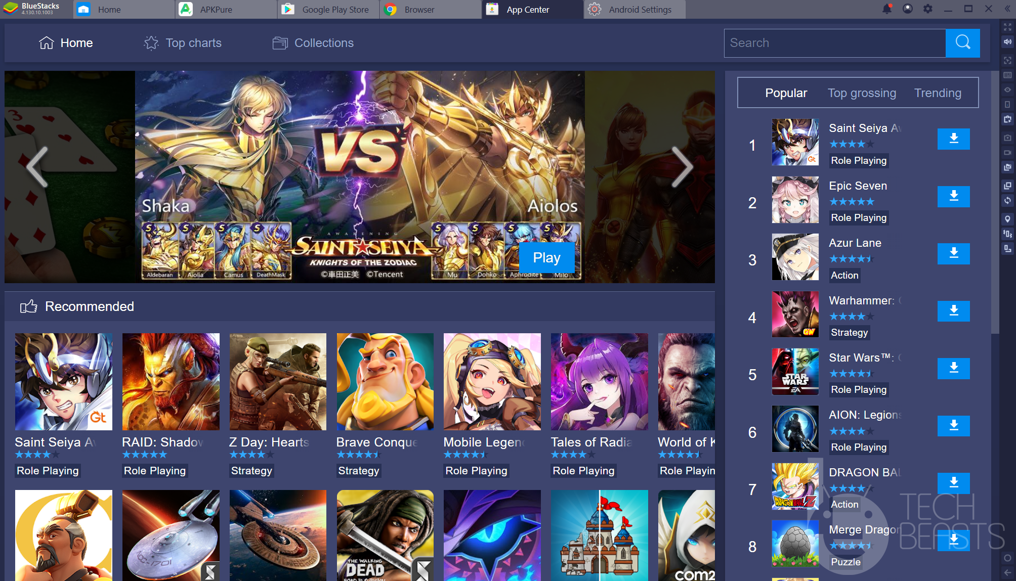 BlueStacks 4.1 for Windows 10 & Windows 8