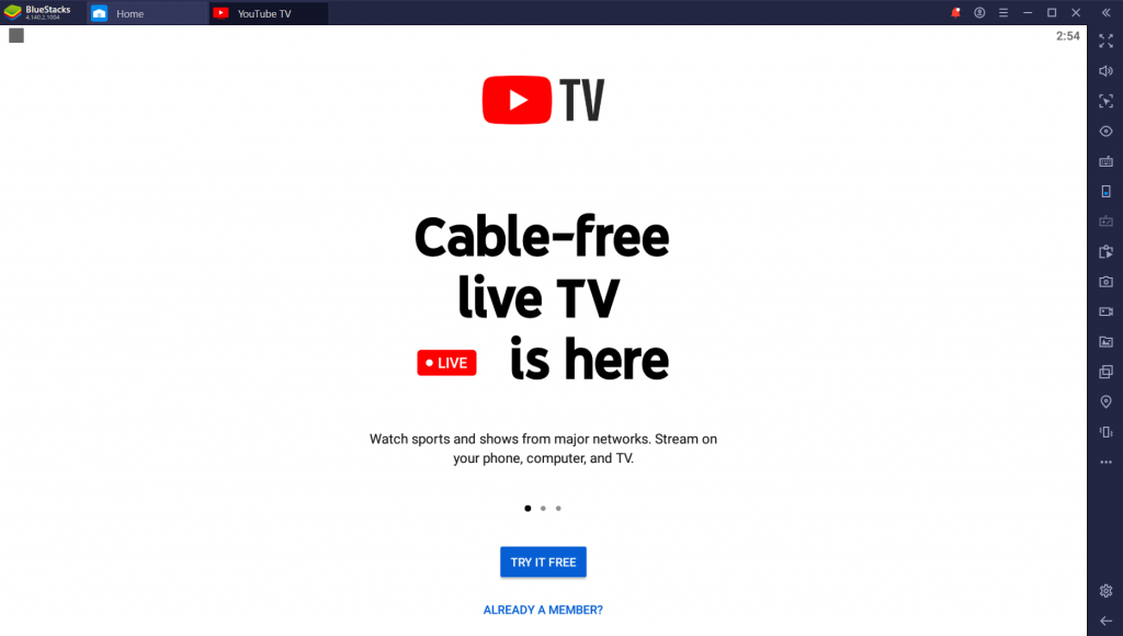 YouTube TV for PC