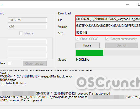 Download Samsung Firmware via SamFirm