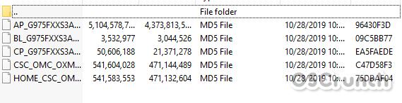 Firmware Files downloaded via SamFirm