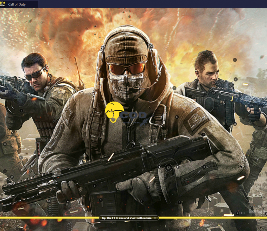 Playing cod mobile on PC via BlueStacks